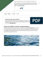 Cases of 'Indirect' Sensor Measurements _ 2.1 Sensors and Actuators _ IOT2x Courseware _ EdX