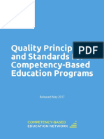 Quality Princlples and Standards for Cbe