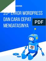 Cara Mengatasi Error Wordpress