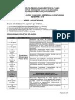 Cronograma Ecuaciones Diferenciales 02-2018