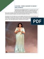 Evolution of Saree on Nari