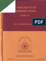 1142. Fundamental Abhidhamma Part 2 - Rector Dr. Nandamalabhivamsa