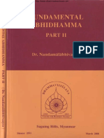 968. Fundamental Abhidhamma Part 2 - Rector Dr. Nandamalabhivamsa