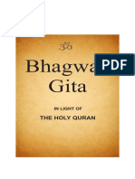 Bhagwad Gita in Light of Holy Quran