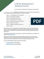 Study Skills Assessment Questionnaire