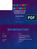 Bens Party Birthday