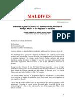Maldives View Towards Climate Change