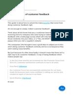 The Golden Rule of Customer Feedback