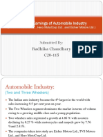 Dupont Analysis for 3 Automobile Companies