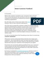 9 Strategies to Obtain Customer Feedback