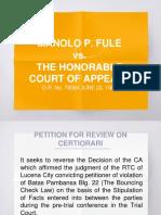 Fule vs. CA