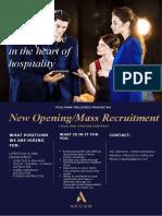 Mass Recruitment Lifestyle and Spa