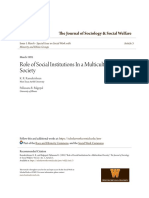 Role of Social Institutions in a Multicultural Society