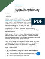 Funnel Optimization Why Marketers Must Embrace Change MarketingSherpa Blog