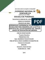 Plan de Proyecto de Investigacion -Maestria -2019 -Corrigido