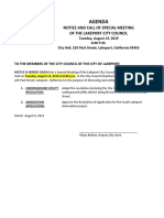 081319 Lakeport City Council special meeting agenda packet