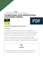 10 Methods for Identifying Customer Needs - Dummies