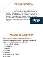 Analise gravimetrica