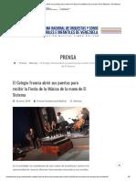 El Colegio Francia Abrió Sus Puertas Para Recibir La Fiesta de La Música de La Mano de El Sistema – El Sistema