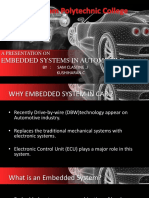 Embedded System in Automobile Vehicles