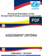 5 CFLGA Assessment Criteria