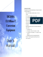 DH2010A Conversion Equipment User's Manual