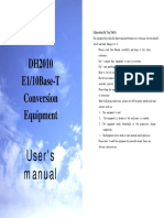 DH2010 Conversion Equipment User's Manual