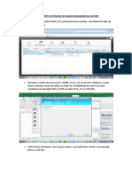 Procedimentos para extração de dados realizados