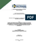 Diseño e implementación de sistema de control de maquina de inyeccion