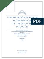 Plan de acción para una economía con crecimiento y sin inflación