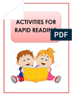 Activities for Rapid Readers Final