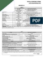 Lista de Materiais Infantil IV 291018