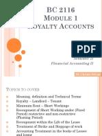 Royalty account