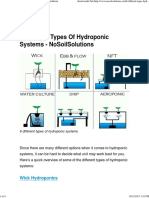 6 Different Types of Hydroponic Systems - NoSoilSolutions