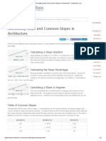 Calculating Slope and Common Slopes in Architecture