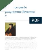 Qu'Est Ce Que Le Programme Erasmus