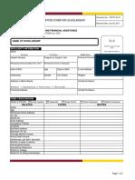 School application sheet sample