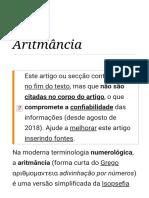 Aritmância – Wikipédia, A Enciclopédia Livre