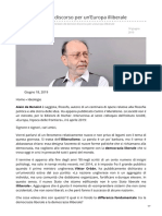 Oltrelalinea.news-Alain de Benoist Discorso Per UnEuropa Illiberale