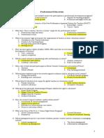 Prof Ed 2 1-150 Key