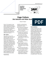 SRAC- Cage Culture Site Collection and Water Quality
