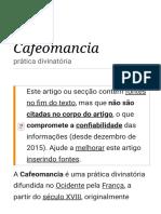 Cafeomancia – Wikipédia, A Enciclopédia Livre