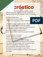 Acróstico Día Del Idioma Castellano - Dmc,