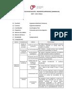 Silabo y Cronograma de Taller de Investigacion Empresarial
