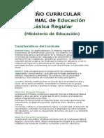 Diseño Curricular Nacional de Educación Básica Regular