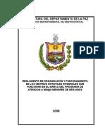 Reglamento de Organización y Funcionamiento de Los Centros Infantiles Pan