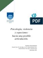 Violencia y Especismo
