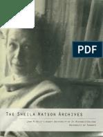 The Sheila Watson Archives SMC:UofT -- Sheilawatsonarch00ston