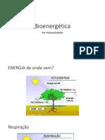 Aula de Bioenergética Celular aplicada à Educação Física