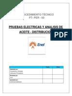 PROCEDIMIENTO TÉCNICO - Pruebas electricas y analisis de aceite - distribución.pdf